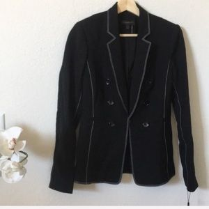 Donna Karan NY | black with white stitching blazer